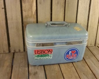 Blue Train Case, Samsonite Suitcase
