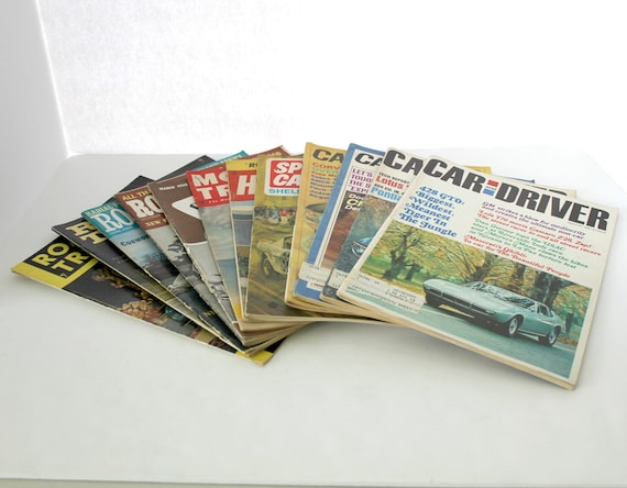 Lot 12 1950s 60s Car and Driver, Road & Track, Hot Rod, Sport Car and Motor Trend Magazines