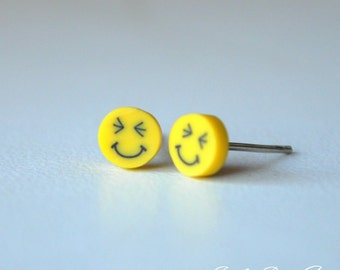 Really Happy Smiley Face Stud earrings