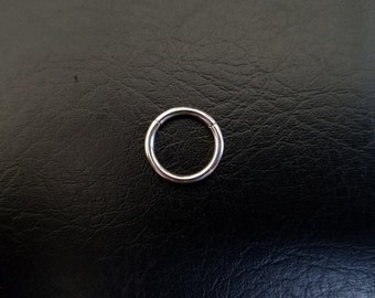 "14g 3/8"" 10mm Steel Seamless Segment Hinged Ring Hoop body jewelry ear eyebrow septum daith nose smiley helix lip"