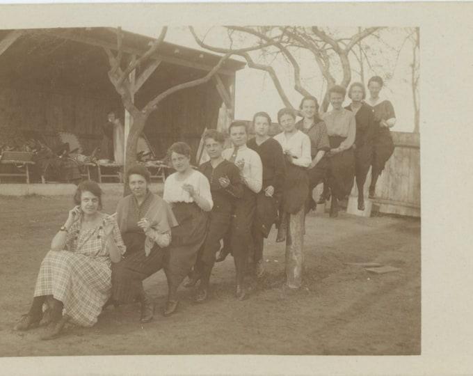 Vintage Snapshot Photo RPPC: Cigarette Teeter Totter, 1922 [83657]