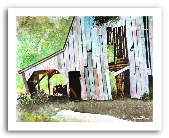 Barn Art Barn With Wagon Shed Prints Signed And