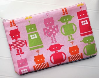 Pencil case for children with robots