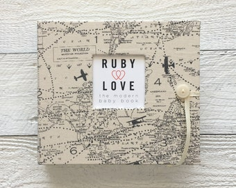 Vintage Airplane Map | BABY BOOK