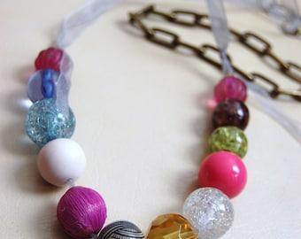 Handgefertigte Messing antik inspirierten Halskette