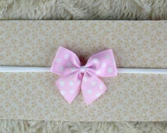 Baby Headband, tiny bow headbands, Headbands for newborn, pink headband, pink bow, baby bows