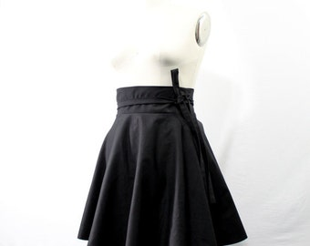 "Plus Size Skater Skirt High Waist Wrap Skirt ( 2 - 24 ) 25"" L"