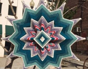 Simplicity's Star, an 18-inch, 12-sided mandala by Elizabeth Tingley