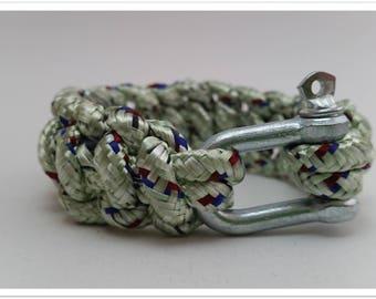 Multicolored paracord bracelet Unisex green powder