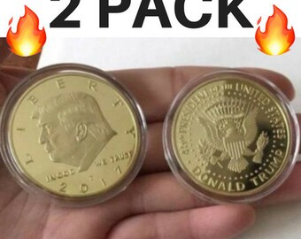 2-Pack Donald Trump Inaugural Gold EAGLE Commemorative Coin Amazing Detail