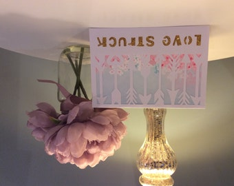 Handmade Love Struck Arrow Card - 2 colour options Wedding Anniversary