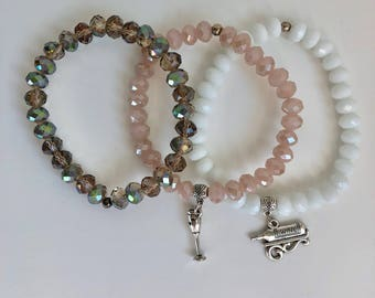 Bead bracelets (set of 3) by Sovereigns Dagger