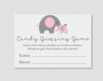 Mint and Gold Baby Shower Candy Guessing Game Printable