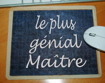 """Mousepad school slate style """"the great master"""" master gift"""