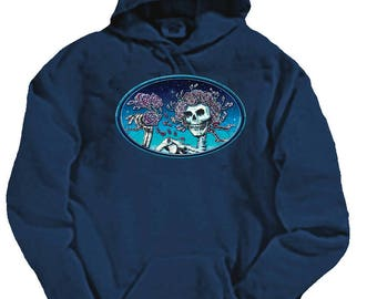 Grateful Dead Hoodie- Skull and Roses- Bertha- Heavyweight Sweatshirt- 80/20 Cotton/Poly