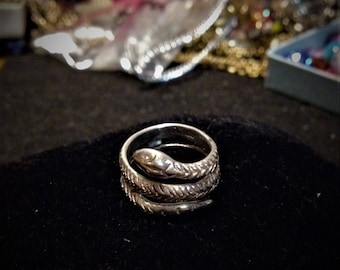 Silver Cellini Snake Ring (Size 6)