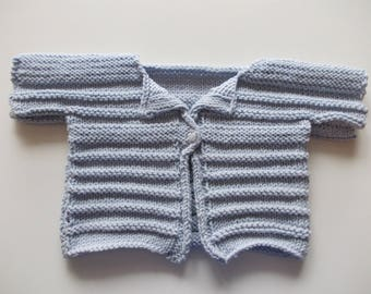 BABY BLUE COTTON SWEATER