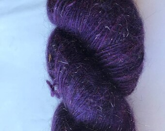 Brushed Mohair Lace-weight Sparkly Yarn -- Fountain Hill Brushed Mohair by Kraemer Yarns