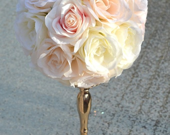 Pantone Flower Ball WEDDING CENTERPIECE. Pantone Pomander. Pantone Flower Girl Bouquet. Pantone Bridesmaid Bouquet. Pantone Kissing Ball.