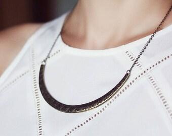 Bronze Necklace Simple Minimalistic Necklace Boho Necklace Antique Bronze Collar Necklace Statement Necklace Bronze Jewelry Bib necklace