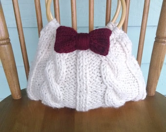 Knitted Cable Handbag