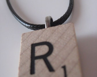 Scrabble Pendant Necklace ---CLEARANCE - All letters available --