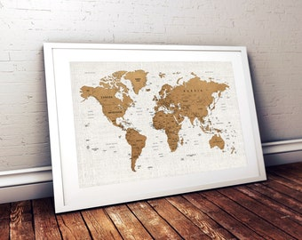 World map wall art etsy push pin world map printable world map wall art world map print world map poster world map wall art map wall decor digital download map gumiabroncs Image collections