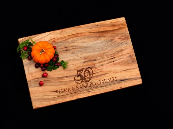 50th Anniversary Cutting Board - 50th Anniversary Gift - 25th Wedding Anniversary Gift - Personalized Anniversary Cutting Board