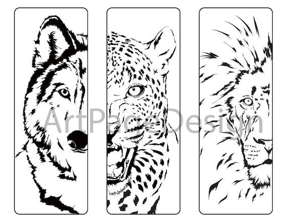 oloring pages animals Wolf Cheetah Lion Coloring pages