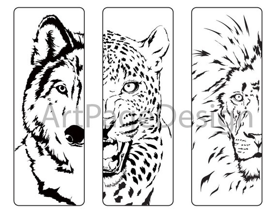 Сoloring pages animals. Wolf Cheetah Lion. Coloring pages