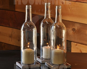 Cabernet Style Wine Bottle Candle Holder Centerpieces