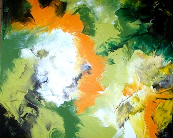 Acrylic picture > Green earth-Acrylic painting > Green earth < original painting
