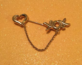 Heart and Kisses Stick Pin