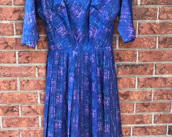 1960s R&K Orginals Plum Crazy Purple Dress
