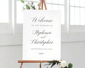 Printable Wedding Signs Welcome - Welcome Sign - Wedding Signage - Welcome Sign Wedding - Welcome Sign for Wedding PDF - (Item code: P469)