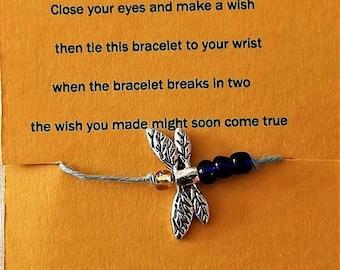 dragonfly wish bracelet