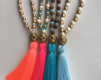 The Reese Tassel || Tassel Statement Necklace || Deluxe Tassel || GameDay Outfit || Gridiron Belles ||