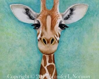 Children's Wall Art - Giraffe, Giraffe Nursery Wall Art, Giraffe Nursery Decor, Safari Nursery Decor, Giraffe Wall Art, Giraffe Home Decor