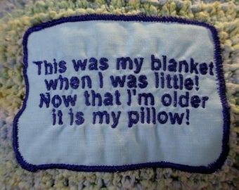Blankie Memory Pillow