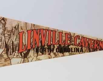 Linville Caverns, North Carolina - Vintage Pennant