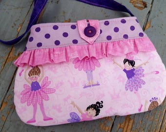 Ballerina Toddler Purse, Little Girl's  Purse with Matching Coin Purse, girls handbag, ballerina purse