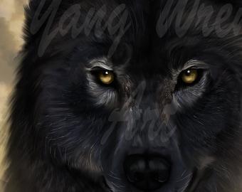 Wolf 8 X 10 giclee print