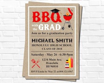 Cookout invitation etsy graduation party invitation graduation bbq invitation barbeque cookout invitation personalized invitation printable filmwisefo Images