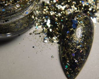 Evil Queen a gold and black glitter mix