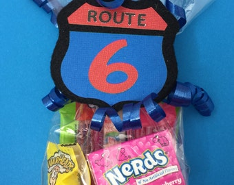 Race Car Birthday Party - Race Car Party Favor - Car Baby Shower - Car Racing - Racing Birthday - Race Car Baby Shower - Route 66 Favor Bag