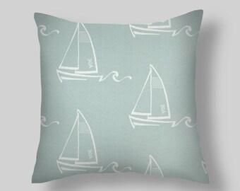 Spa Blue Pillow Covers, Blue pillows, Throw Pillows, Decorative Pillows, Pillow Covers