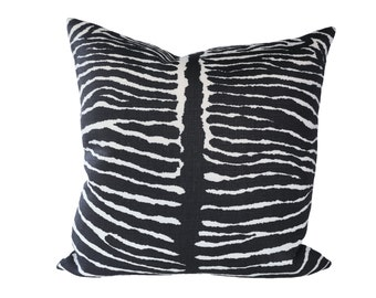 Le Zebre Black designer pillow covers - Made to Order