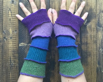 Armwarmers made from recycled sweaters