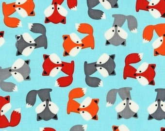 Foxes on Sky Blue From Robert Kaufman