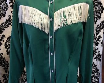 Incredible 50's Western Fringe Shirt